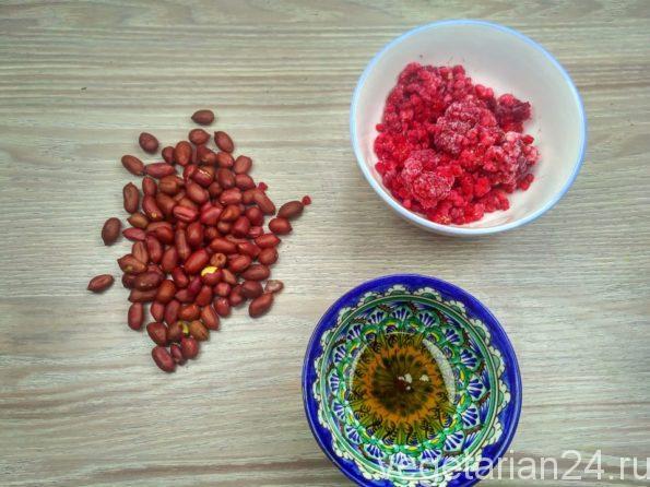 Ингредиенты для приготовления арахисовой пасты