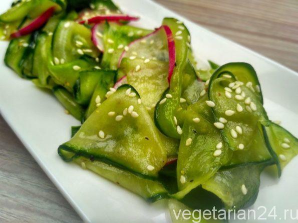 Японский салат из огурца