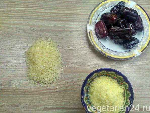 Ингредиенты для приготовления сладости из риса