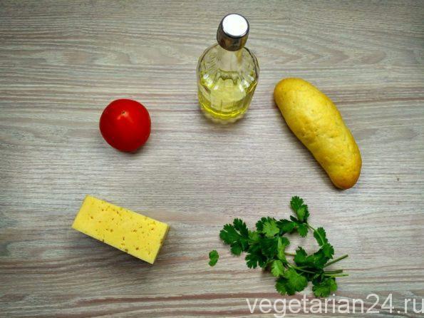 Ингредиенты для приготовления мини бутербродов
