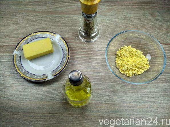 Ингредиенты для приготовления сырных палочек