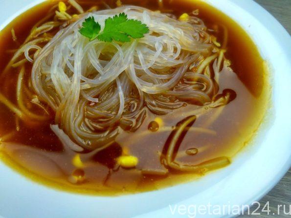 веганский суп с пророщенной соей