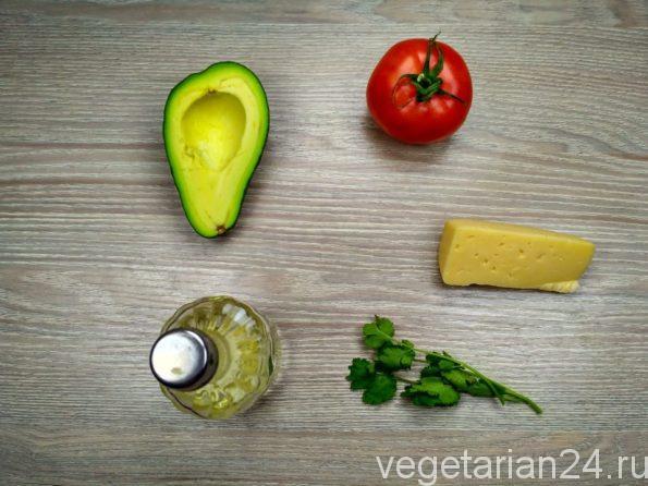 Ингредиенты для приготовления закуски из авокадо