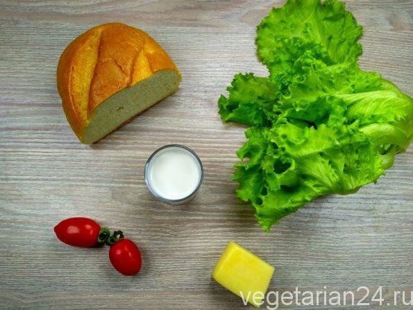 Ингредиенты для приготовления салата цезарь