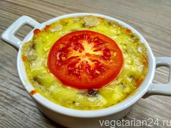 Жульен с грибами, сливками и сыром
