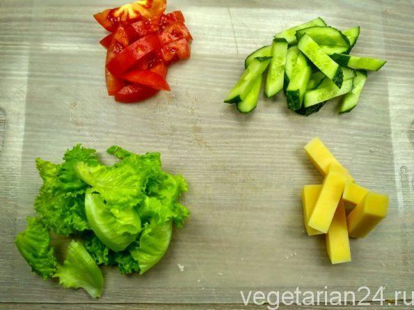 Овощи для салата малибу