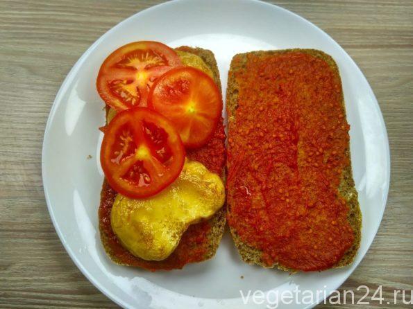 Готовим грибной бутерброд