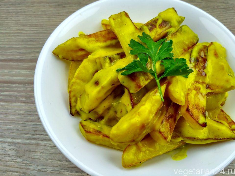Картофель в сливочном соусе