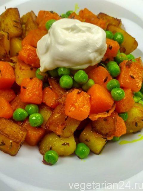 Сабджи из картофеля и тыквы