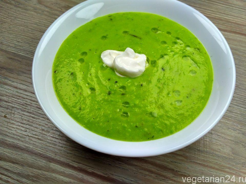 Постный суп пюре из зеленого горошка