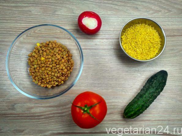 Ингредиенты для постного салата