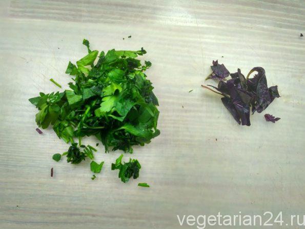 Зелень для вегетарианской окрошки