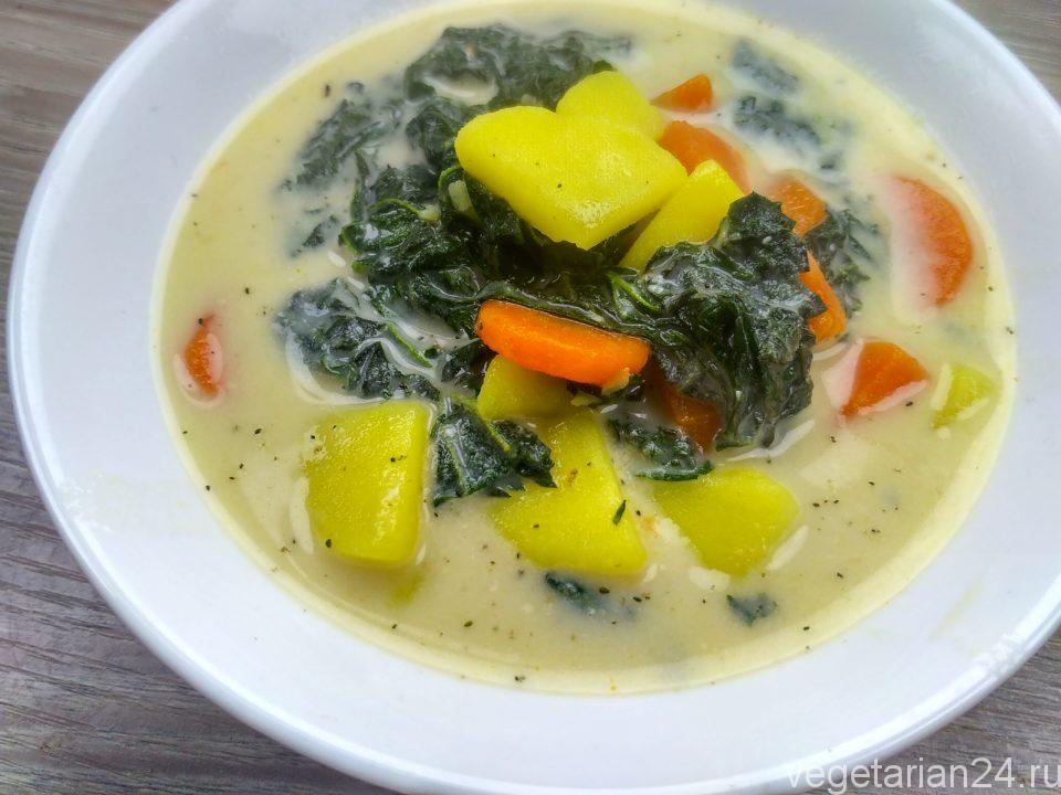Сливочный суп из крапивы