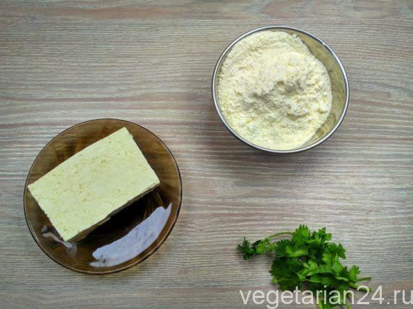 Ингредиенты для постных хачапури