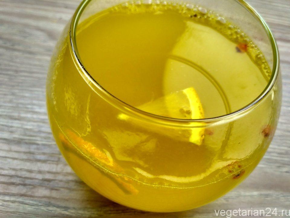 напиток из облепихи и апельсина