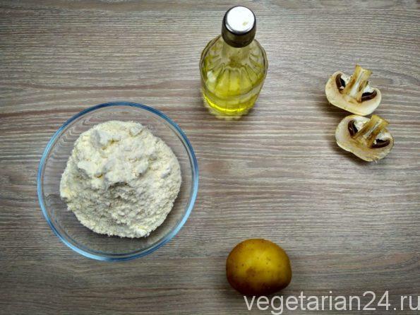 Ингредиенты для приготовления постных хинкали