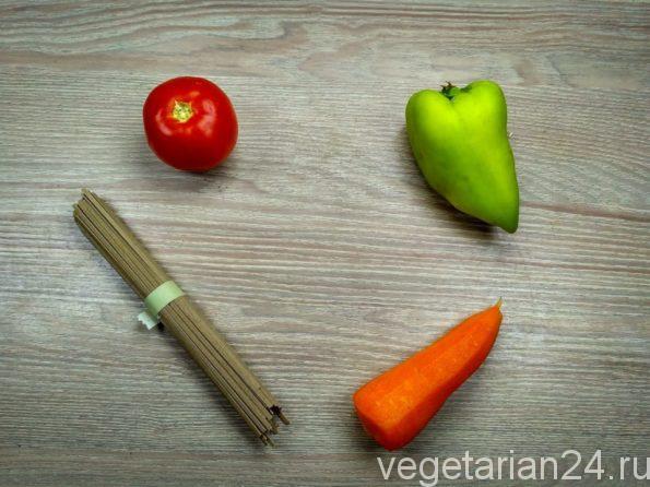 Ингредиенты для приготовления гречневой лапши