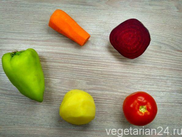 Ингредиенты для приготовления супа пюре из свеклы