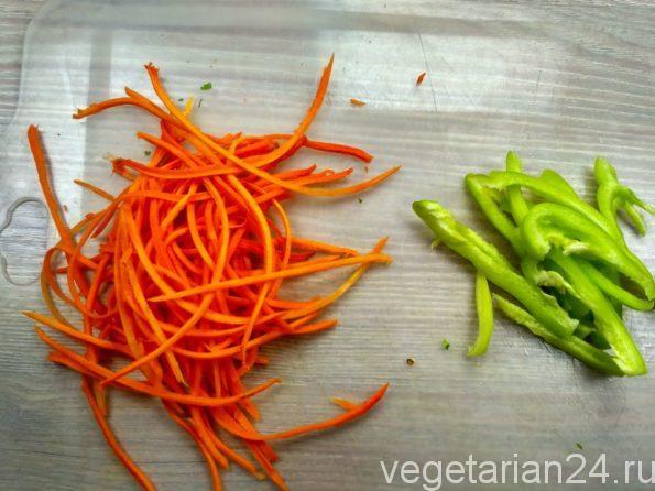 Овощи для гречневой лапши