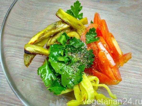 Готовим салат из баклажан
