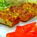 Постный кацудон с рисом и свежими овощами