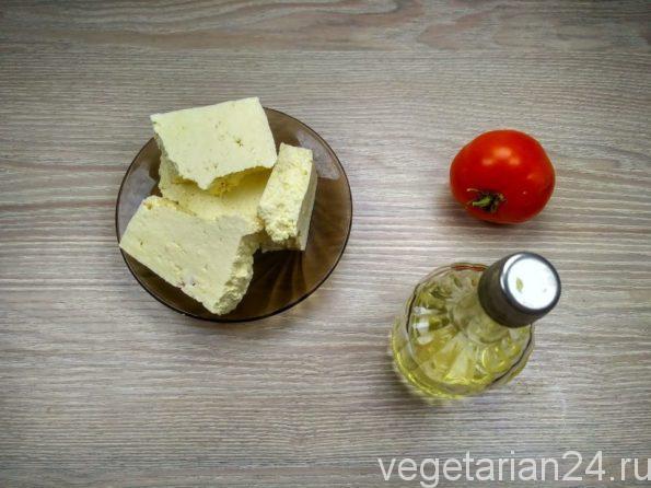 Ингредиенты для приготовления постной яичницы