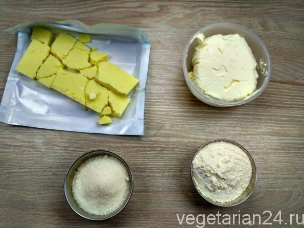 Ингредиенты для приготовления чизкейка