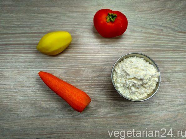 Ингредиенты для приготовления супа с клецками