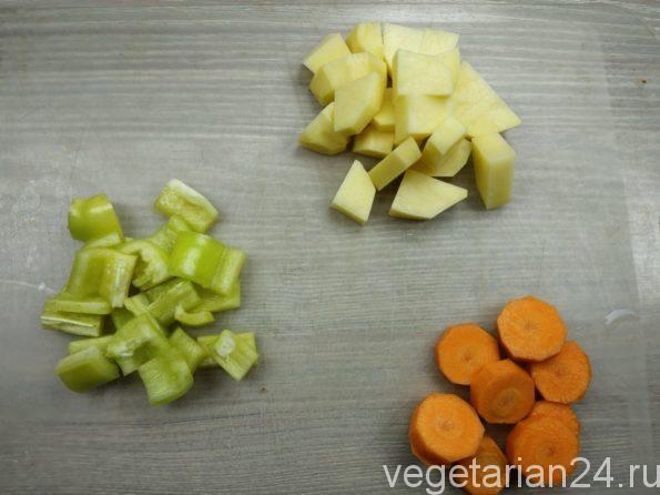 Овощи для супа харчо